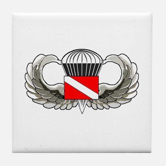 Cute Parachute Tile Coaster