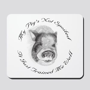My pigs not spoiled, its just trained me well Mous