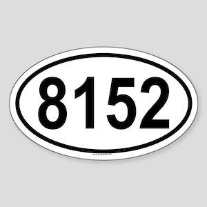8152 Oval Sticker