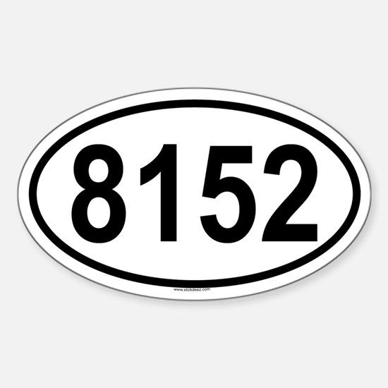 8152 Oval Decal