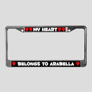 My Heart: Arabella (#001) License Plate Frame