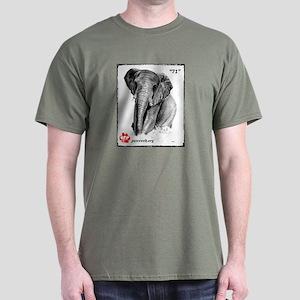 """71"" African Elephant, PAWSWeb.org Dark T-Shirt"