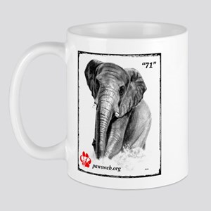 """""""71"""" African Elephant, PAWSWeb.org Mug"""