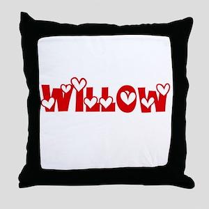 Willow Love Design Throw Pillow