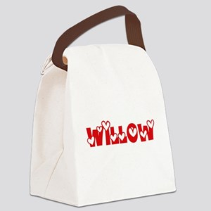 Willow Love Design Canvas Lunch Bag