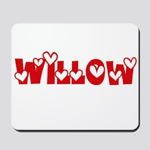 Willow Love Design Mousepad