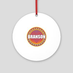 Branson Sun Heart Round Ornament