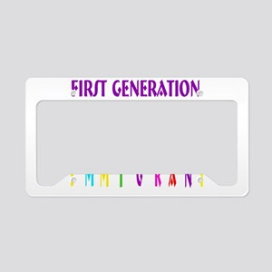 First Generation Immigrant License Plate Holder