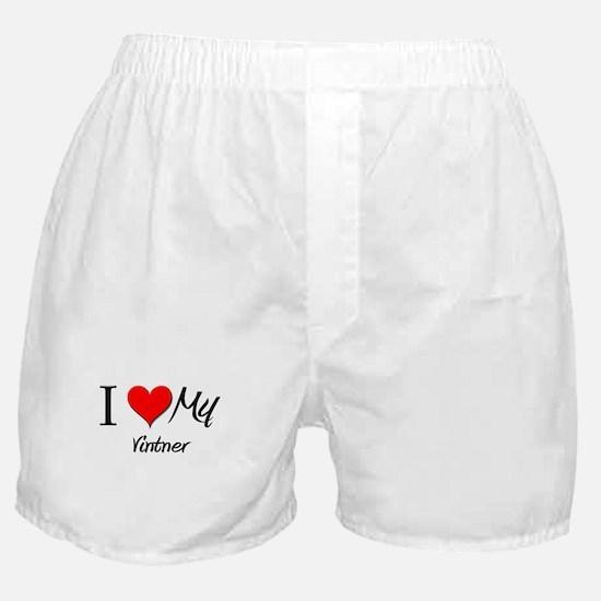 I Heart My Vintner Boxer Shorts