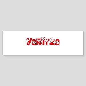 Yaritza Love Design Bumper Sticker