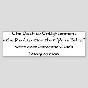 Enlightenment Bumper Sticker