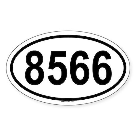 8566 Oval Sticker