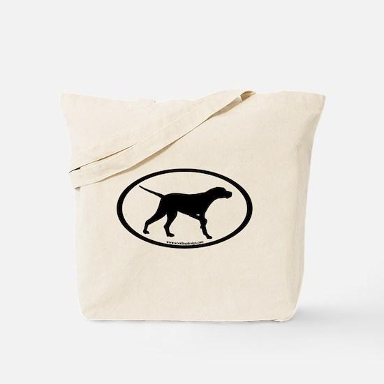 Pointer Dog Oval Tote Bag