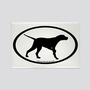 Pointer Dog Oval Rectangle Magnet