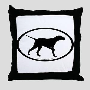 Pointer Dog Oval Throw Pillow