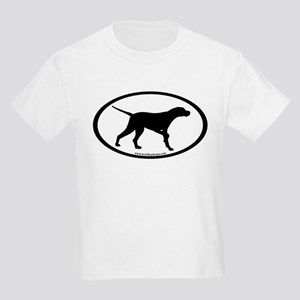 Pointer Dog Oval Kids Light T-Shirt