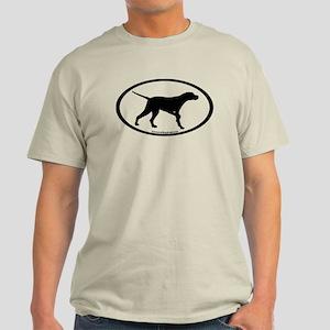 Pointer Dog Oval Light T-Shirt