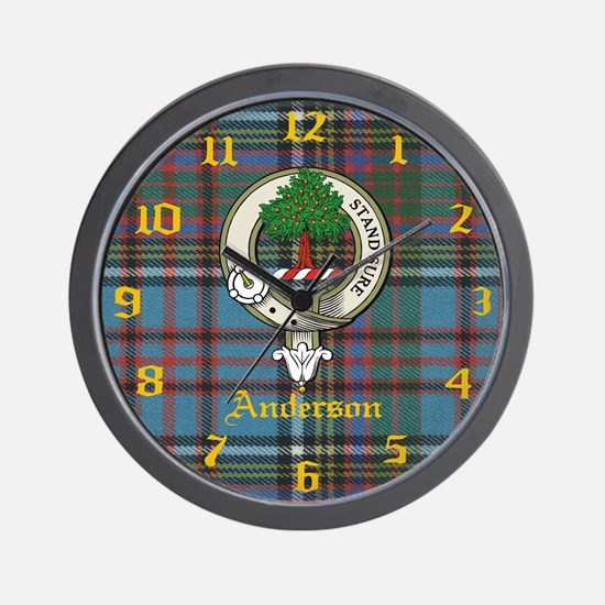 Anderson Clan Crest Wall Clock