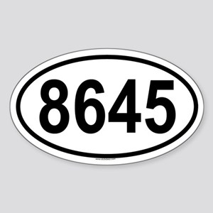 8645 Oval Sticker