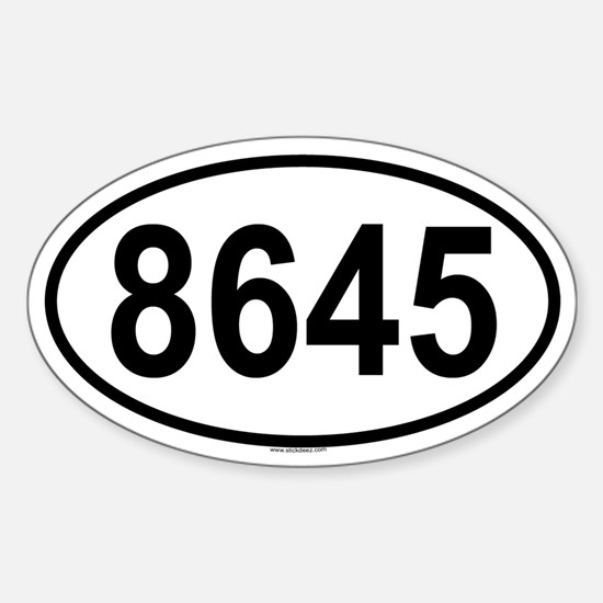 8645 Oval Decal
