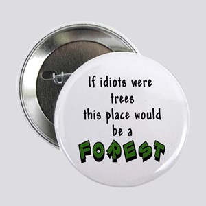 """If idiots were trees 2.25"""" Button"""
