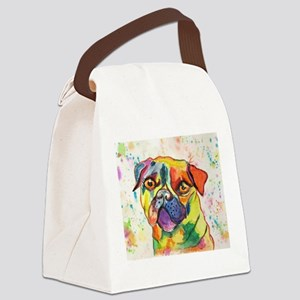 Pop Pug Pup Canvas Lunch Bag