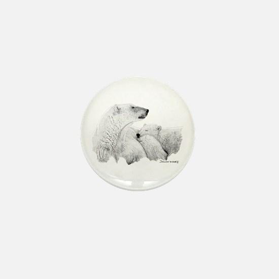 Polar Bears Mini Button