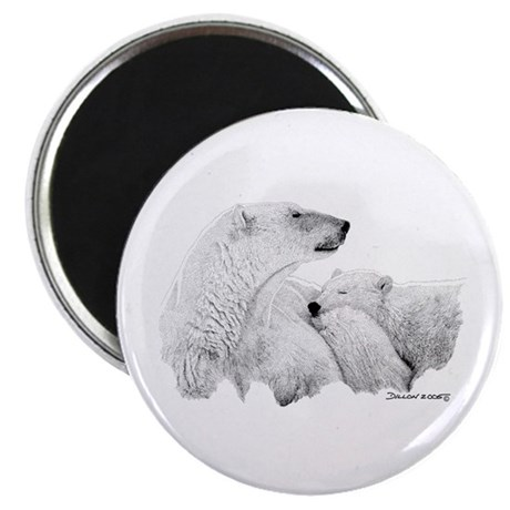 "Polar Bears 2.25"" Magnet (100 pack)"
