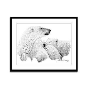 Polar Bears Framed Panel Print