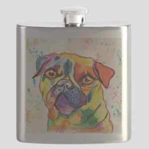 Pop Pug Pup Flask
