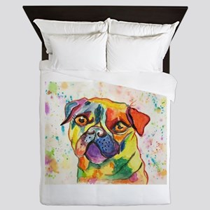 Pop Pug Pup Queen Duvet
