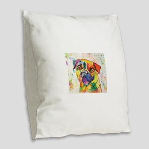 Pop Pug Pup Burlap Throw Pillow