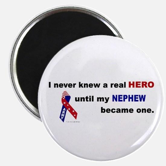 Never Knew A Hero.....Nephew (ARMY) Magnet