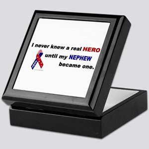 Never Knew A Hero.....Nephew (ARMY) Keepsake Box