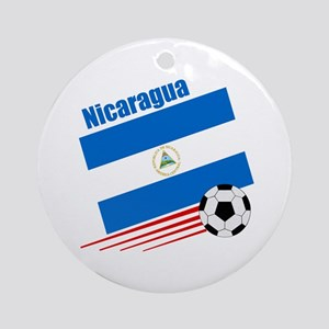Nicaragua soccer team Ornament (Round)