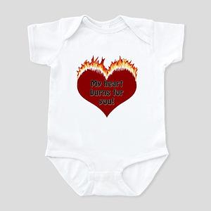Burning Heart Valentine Infant Bodysuit