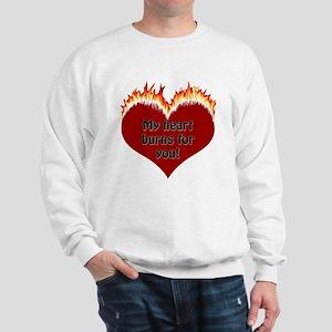 Burning Heart Valentine Sweatshirt