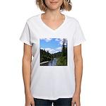 Scenic Eel River Women's V-Neck T-Shirt