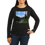 Scenic Eel River Women's Long Sleeve Dark T-Shirt