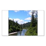 Scenic Eel River Rectangle Sticker