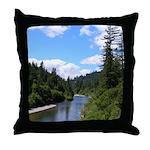 Scenic Eel River Throw Pillow