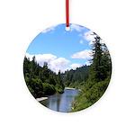 Scenic Eel River Ornament (Round)