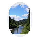 Scenic Eel River Oval Ornament