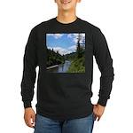 Scenic Eel River Long Sleeve Dark T-Shirt