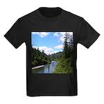Scenic Eel River Kids Dark T-Shirt