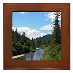 Scenic Eel River Framed Tile