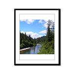 Scenic Eel River Framed Panel Print