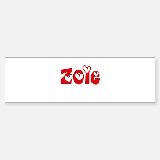 Zoie Love Design Bumper Bumper Bumper Sticker