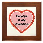 Gramps is My Valentine Framed Tile