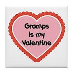 Gramps is My Valentine Tile Coaster